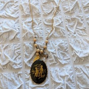 Anthropologie David Aubrey Gemini Pendant Necklace